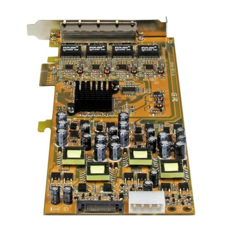 StarTech 4port GBE PCI Express Network - Card W/ PoE