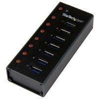 StarTech 7 Port USB 3.0 Hub - Desktop Or Wall-mountable Metal Enclosure