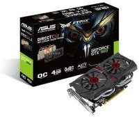 Asus GeForce GTX 960 Strix DCII OC 4GB GDDR5 Dual-link DVI HDMI DisplayPort PCI-E Graphics Card