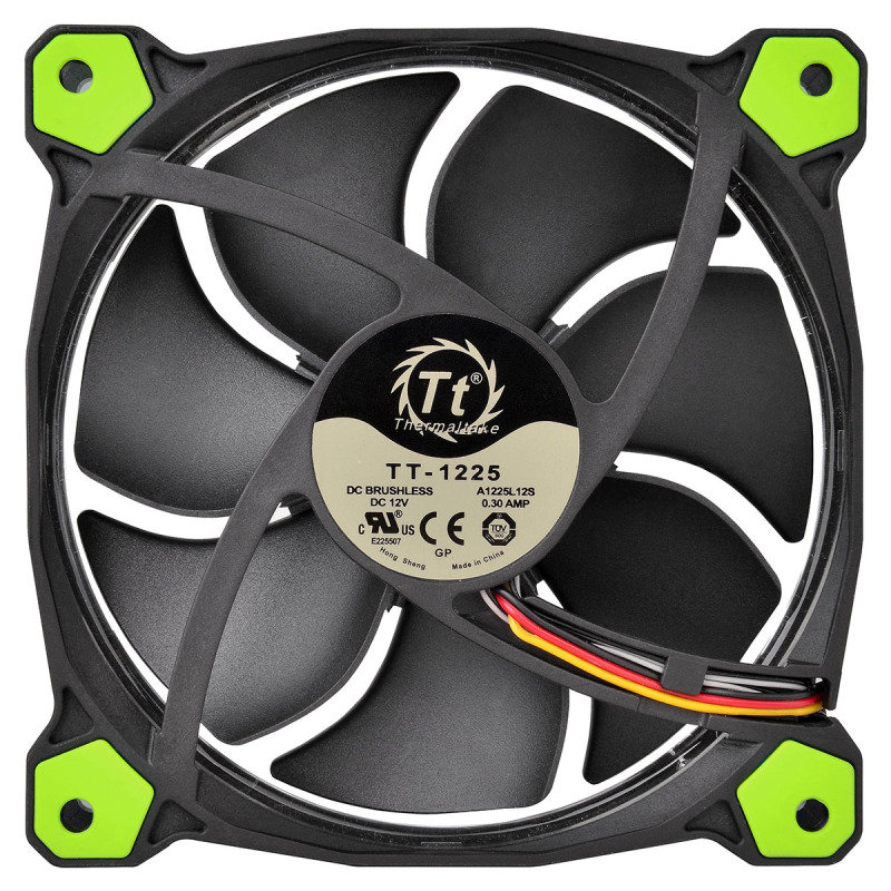 Thermaltake Riing14 Led Green 140mm Fan