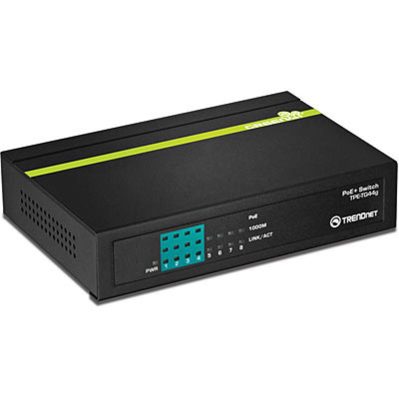 Trendnet TPE TG44G - 8-port Greennet Gigabit Poe - Switch (4 Poe 4 Non-poe)