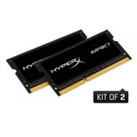 HyperX Impact Black 16GB 1866MHz DDR3L CL11 SODIMM (Kit of 2) 1.35V