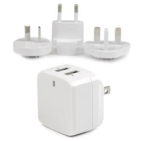 Startech.com 2Port USB Travel Wall Charger - 17W/3.4A 110V/220V