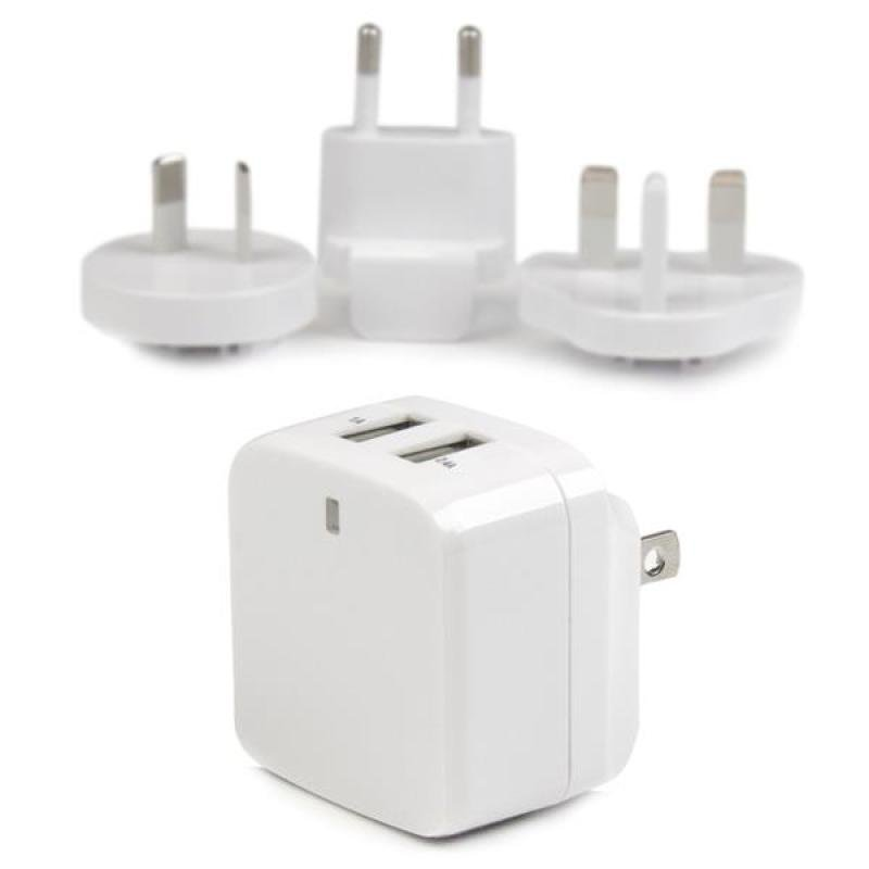 Startech.com 2Port USB Travel Wall Charger  17W3.4A 110V220V
