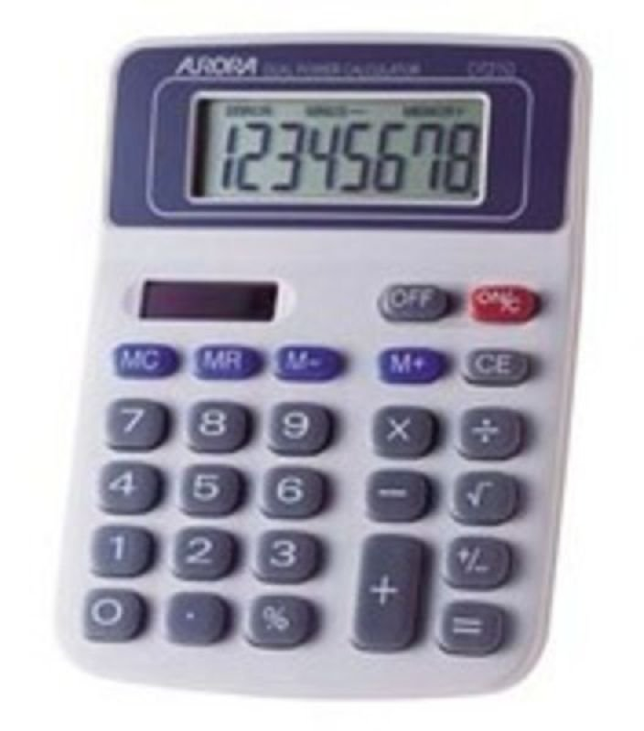 Image of Aurora 8 Digit Dual Powered Desktop Calculator