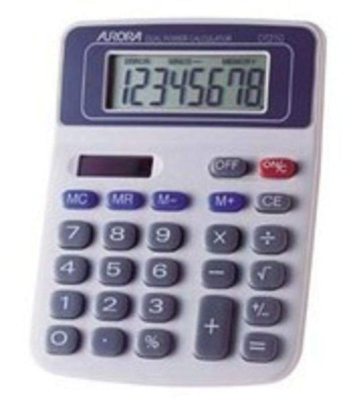 Aurora 8 Digit Dual Powered Desktop Calculator