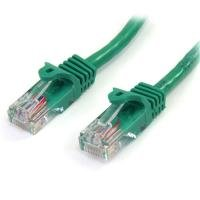 StarTech Cat5e Patch Cable With Snagless RJ45 Connectors  1m  Green