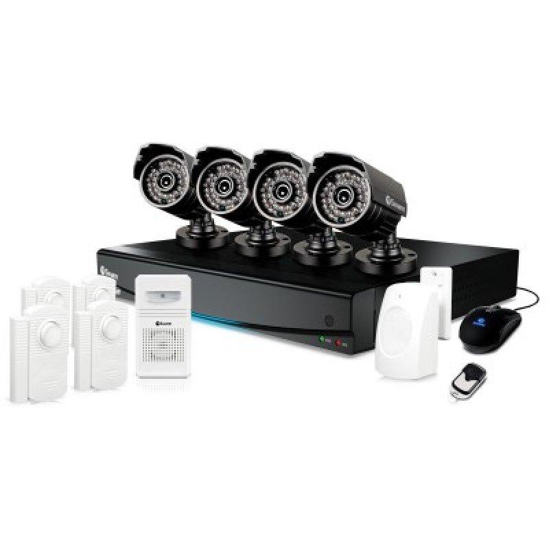Swann DVR83425 8 Channel 960H Digital Video Recorder 4 x PRO735 Cameras Alarm Sensors & Siren