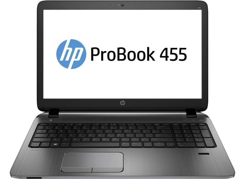 "Image of HP 455 G2 Laptop, AMD A series A8-7100 1.8 GHz, 4GB RAM, 500GB HDD, 15.6"" Display, DVDRW, AMD Radeon R5, Webcam, Bluetooth, Windows 7 / 8.1 Pro 64bit"