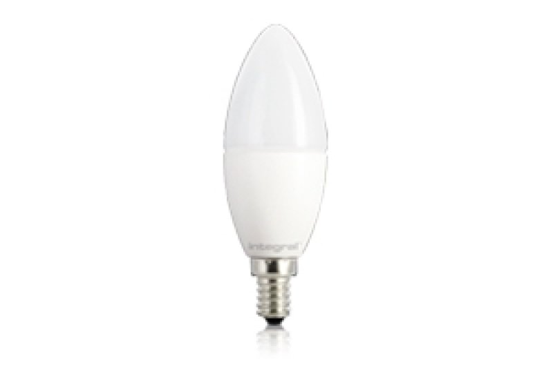 Image of Integral Classic Candle 5.6W Dimmable Frosted LED Bulb (E14)