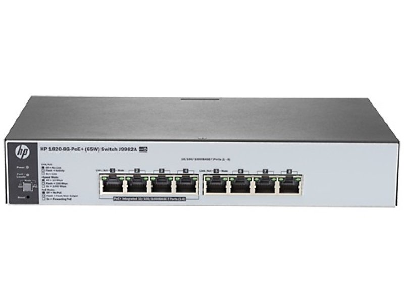 HPE J9982A - 1820-8G-PoE+ (65W) Switch
