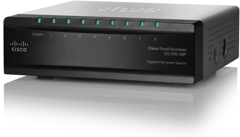 Cisco SLM2008PT-UK - Small Business 200 Series 8-port Gigabit Smart PoE Switch
