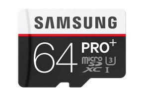 Samsung Pro Plus 64GB Micro SD Flash Card With SD Adapter Memory Card