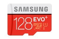 Samsung 128GB Evo Plus Micro SD Flash Card With SD Adapter Memory Card