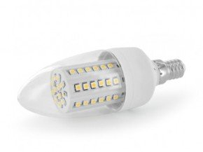 Whitenergy LED Candle C35 Bulb - 60x SMD 3528 E14 Warm White