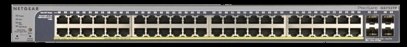 Netgear ProSafe GS752TP-100EUS - 52 Port Gigabit POE SMART SWITCH