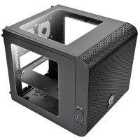 EXDISPLAY Thermaltake Core V1 Mini-ITX Cube Case Front 20cm Fan 2 x USB3 Side Window