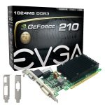EVGA GeForce G210 1GB DDR3 VGA DVI HDMI Passive Low Profile PCI-E Graphics Card