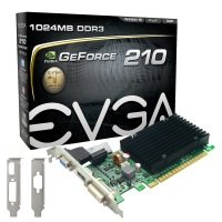 EVGA G210 1GB DDR3 VGA DVI HDMI Passive PCI-E Graphics Card
