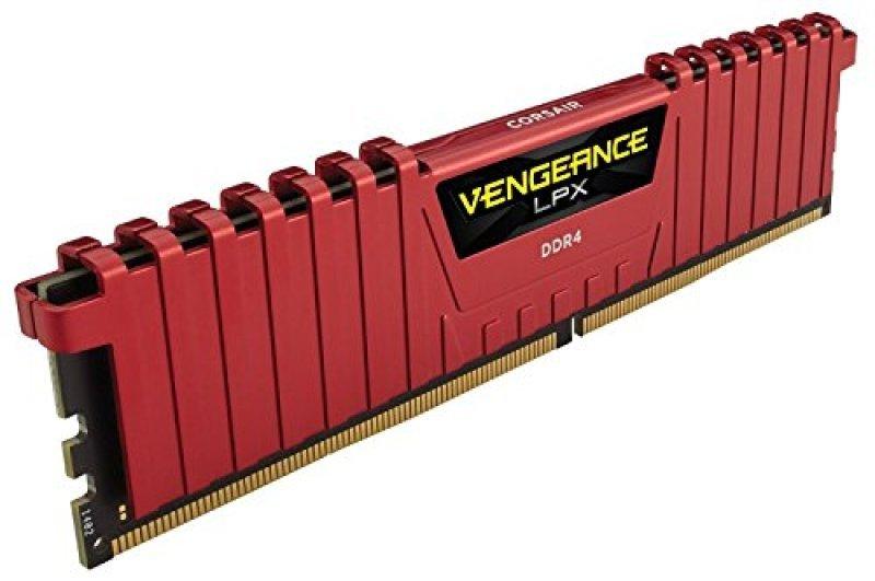 Corsair Vengeance LPX Red 4GB (1x4GB) DDR4 2400MHz 1.2v Standard Dimm