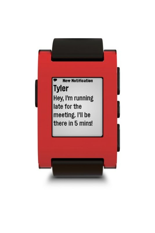 301RD  Pebble Smartwatch  Cherry Red
