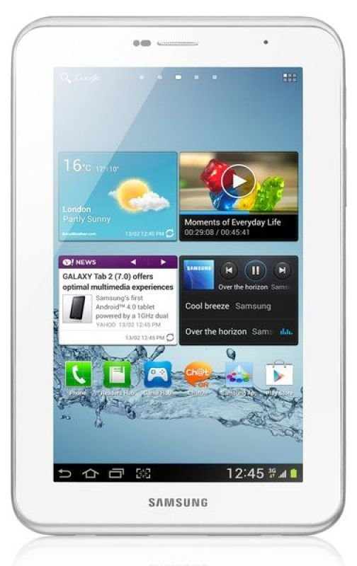 "Samsung Galaxy Tab 2 7.0, Dc Cpu 1ghz, 16gb Flash, 7"" Touch, Wifi, 2 X Cam, Bluetooth, Android 4.0"