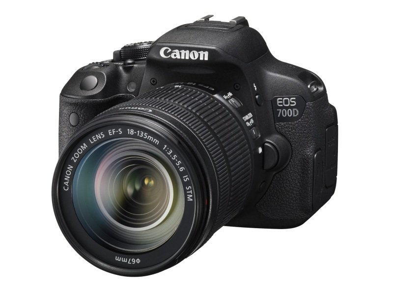 Image of Canon EOS 700D - Digital camera - SLR - 18.0 Mpix - 3 x optical zoom EF-S 18-55mm IS STM lens
