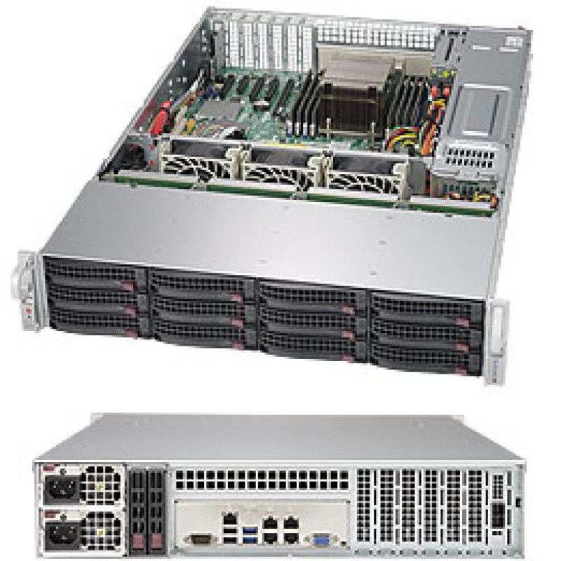 Supermicro SuperStorage Server 6028R-E1CR12H 2U Rackmount
