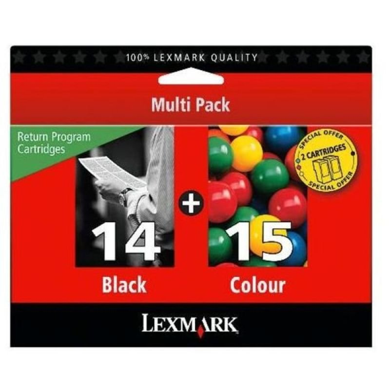 Lexmark Combo Pack 14/15 Ink Cartridge Pack
