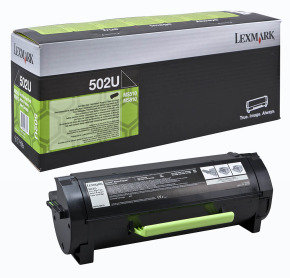 Lexmark 502U Ultra High Yield Black Toner Cartridge