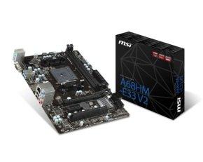 MSI A68HM-E33 V2 Socket FM2+ VGA HDMI Micro-ATX Motherboard