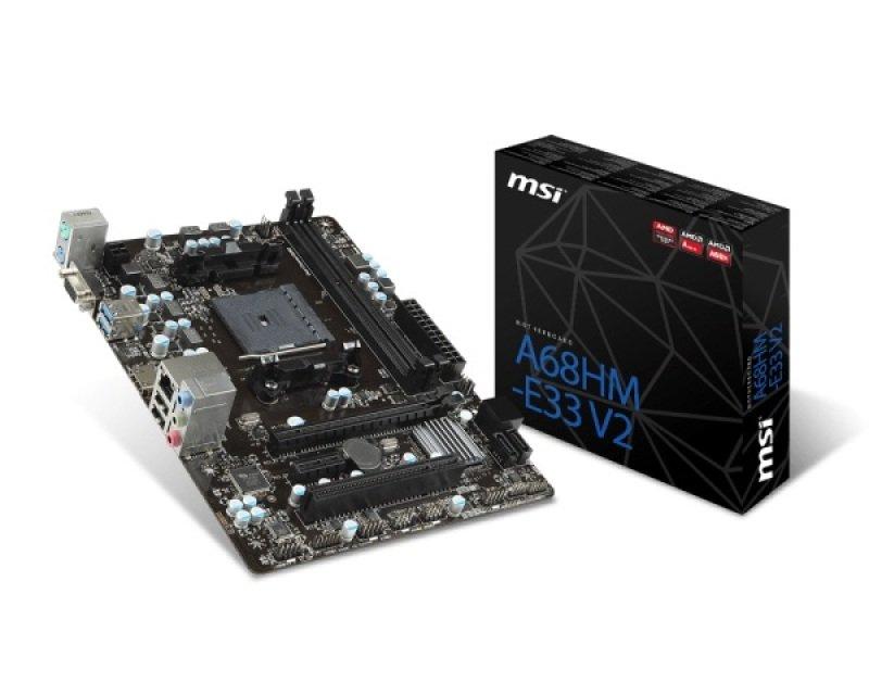 MSI A68HME33 V2 Socket FM2 VGA HDMI MicroATX Motherboard
