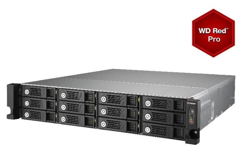 QNAP TS-1253U-RP 24TB (12 x 2TB WD Red Pro) 12 Bay 2U Rackmount NAS