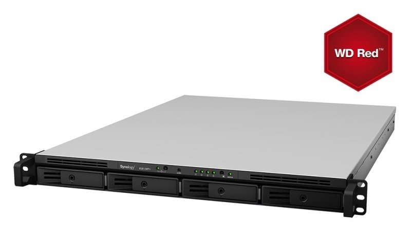 Synology RS815 16TB (4 x 4TB WD Red) 4 Bay 1U Rackmount NAS