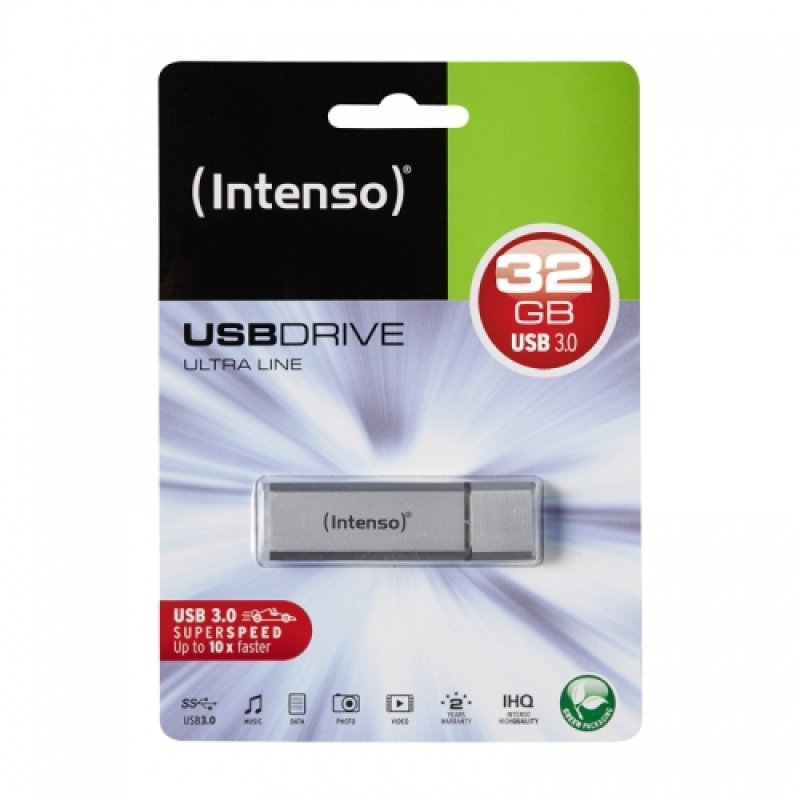 Image of Intenso 3531480 32GB Ultra Line USB 3.0 Flash Drive - Silver