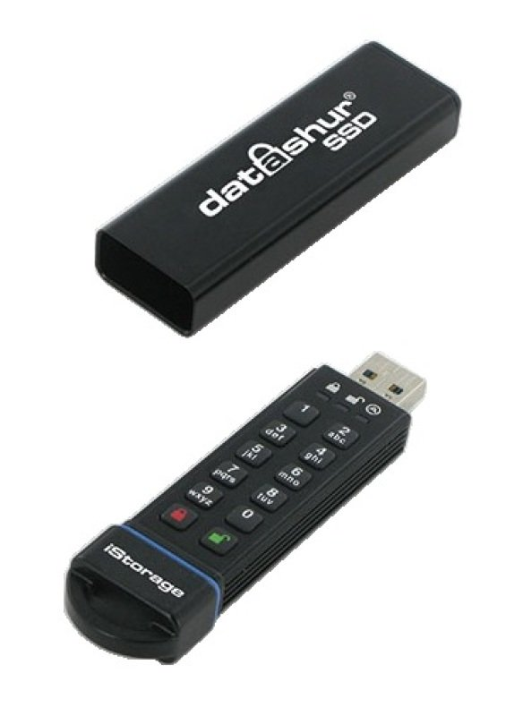 iStorage IS-FL-DA-SSD-60 60GB USB 3.0 datashur SSD Flash Drive