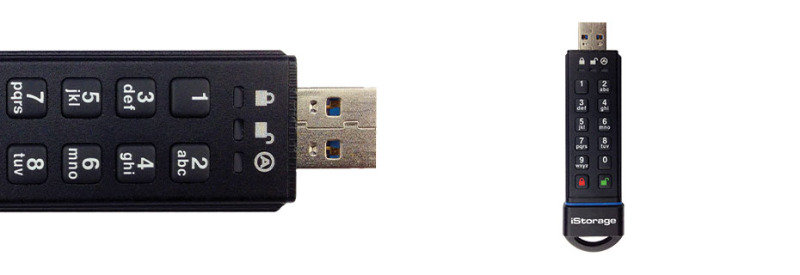 iStorage IS-FL-DA-SSD-120 120GB USB 3.0 datashur SSD Flash Drive