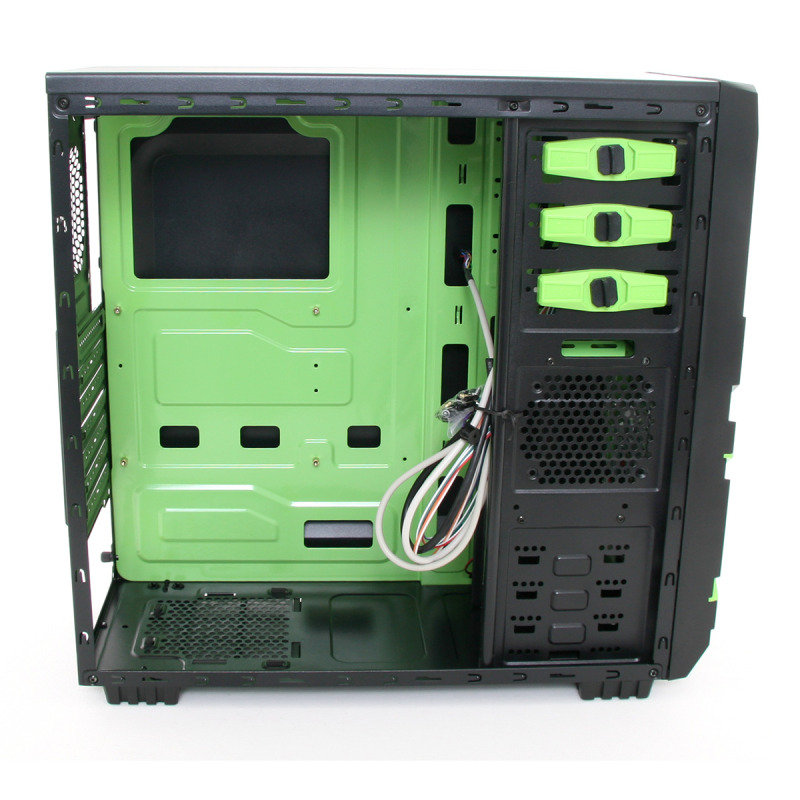 CiT Mesh Gaming Case with Black/Green Interior