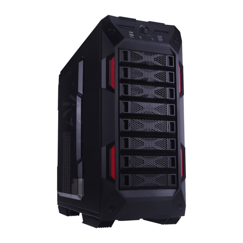 In Win GR One Gaming Case Full Tower EATX USB3 Black & Red