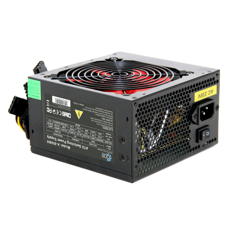 Image of ACE 850w BR Black PSU with 12cm Red Fan & PFC