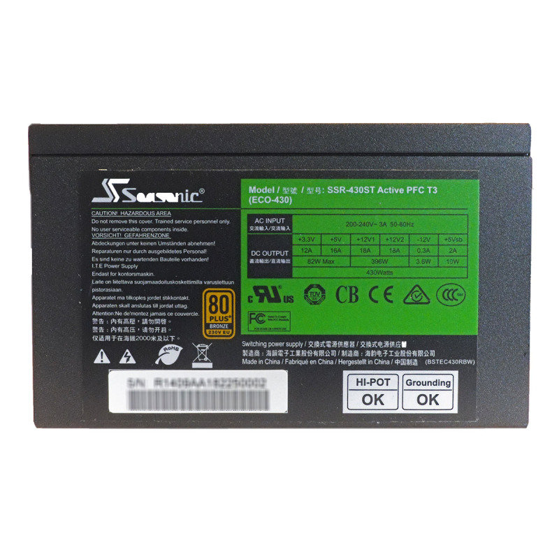 Seasonic 430ST 430W 80+ Bronze Certified PSU