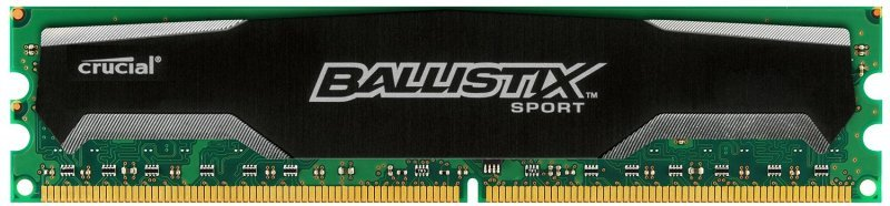 Crucial Ballistix Sport 4GB DDR3 1600 MT/s (PC3-12800) CL9  @1.5V UDIMM 240pin Single Ranked