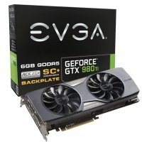 EVGA GTX 980 Ti Superclocked+ GAMING ACX 2.0+ 6GB GDDR5 DVI-I HDMI 3 x DisplayPort PCI-E Graphics Card