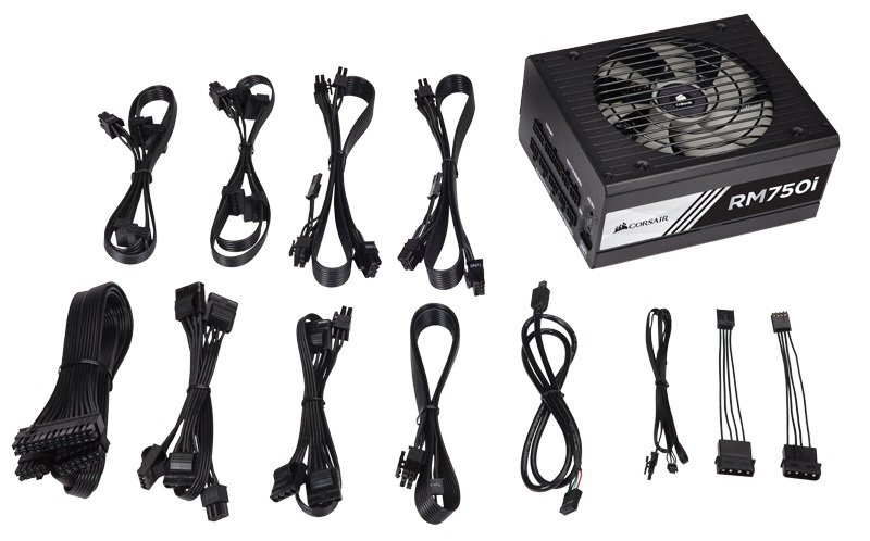 Corsair RM750i RMi Series 750 Watt Fully Modular Power Supply Unit 80 Plus Gold Certified
