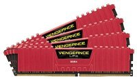 Corsair Vengeance LPX 16GB (4x4GB Kit) DDR4 DRAM 3200MHz C15 Memory Red