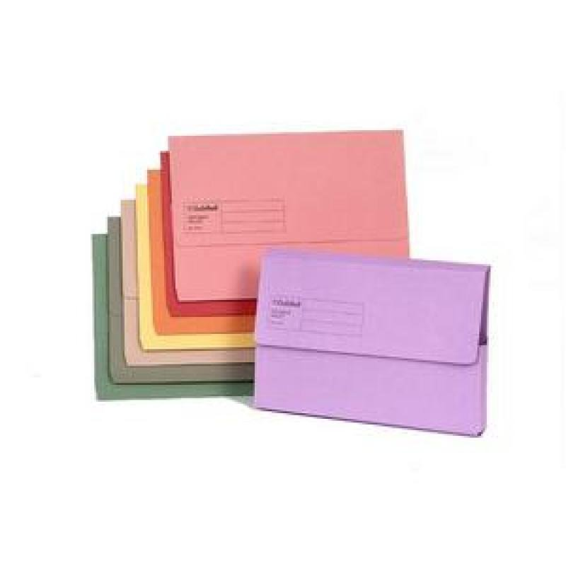 Value Document Wallet Foolscap Assorted - Pack of 50