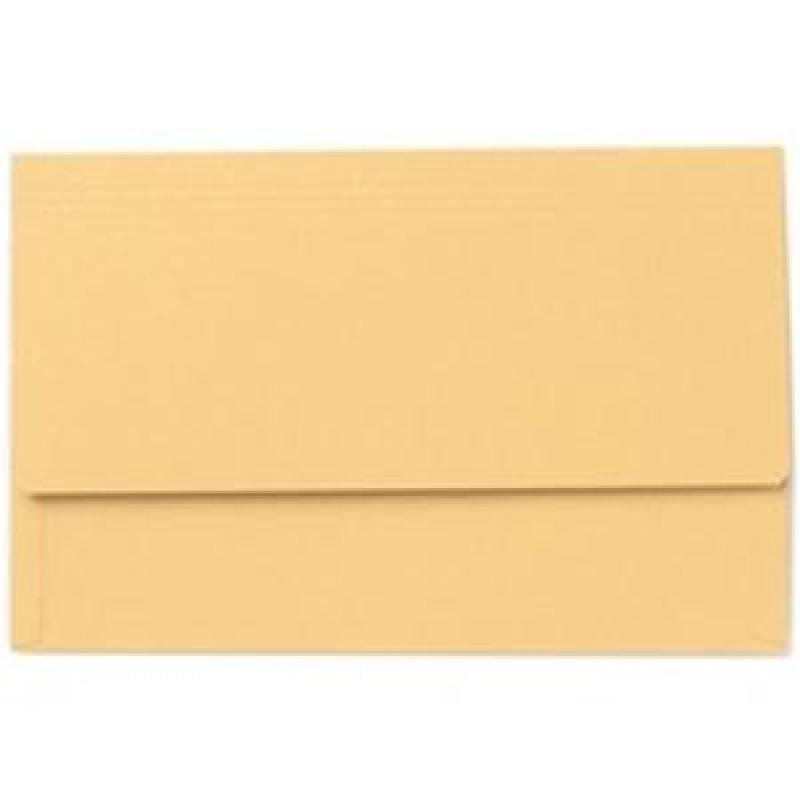Value Document Wallet Foolscap Yellow - Pack of 50