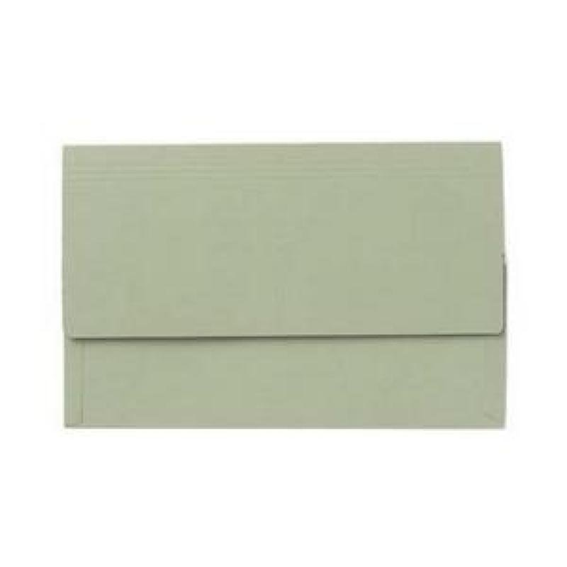 Value Document Wallet Foolscap Green -  Pack of 50