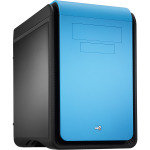 Aerocool Dead Silence Blue Gaming Cube Case 0.8mm MATX 2 x USB3 20cm Black Fan