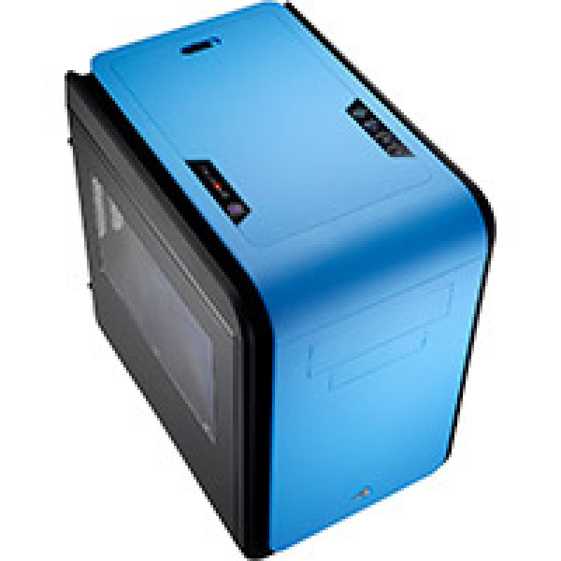 Aerocool Dead Silence Blue Gaming Cube Case 0.8mm M-ATX 2 x USB3 Side Window
